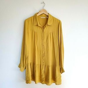 Soft Surroundings Crepe Blouse size Large Marigold